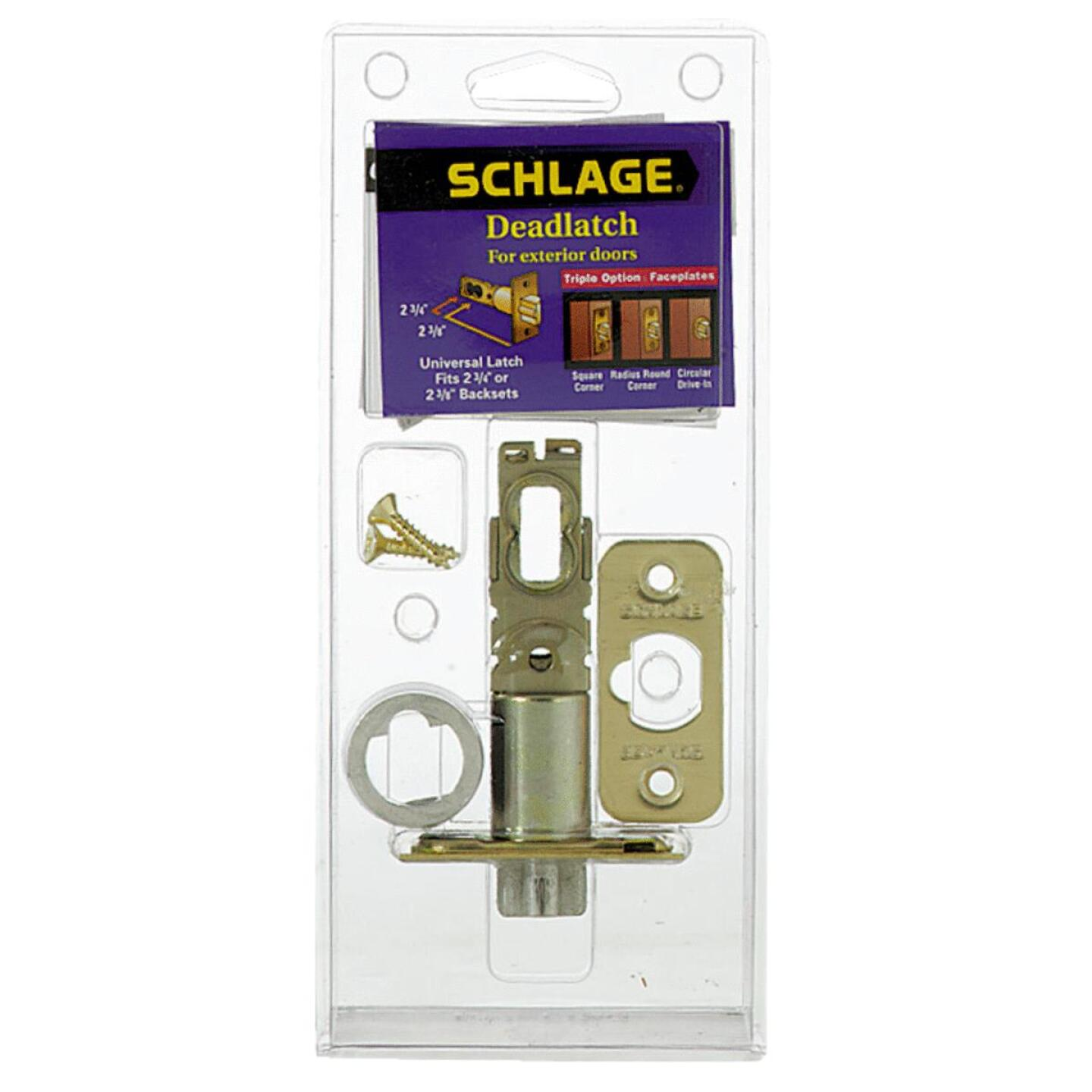 Schlage Triple Option Adjustable Entry Latch Image 1