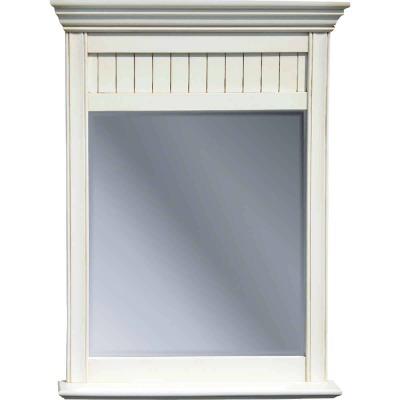 Sunny Wood Bristol Beach White 30 In. W x 40 In. H Vanity Mirror