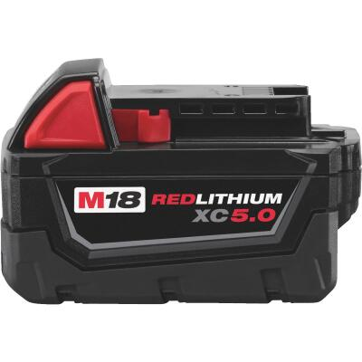 Milwaukee M18 REDLITHIUM XC 18 Volt Lithium-Ion 5.0 Ah Extended Capacity Tool Battery (2-Pack)