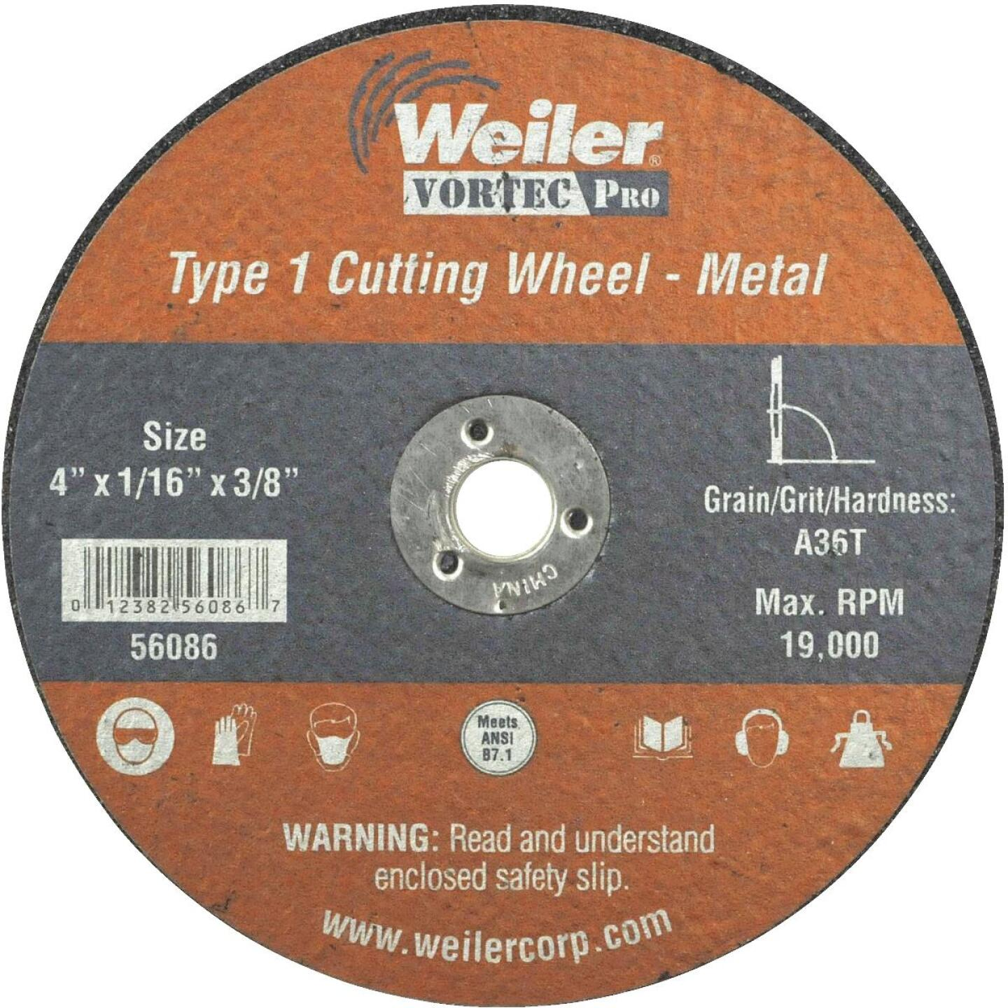 Weiler Vortec 4 In. Type 1 Cut-Off Wheel Image 1