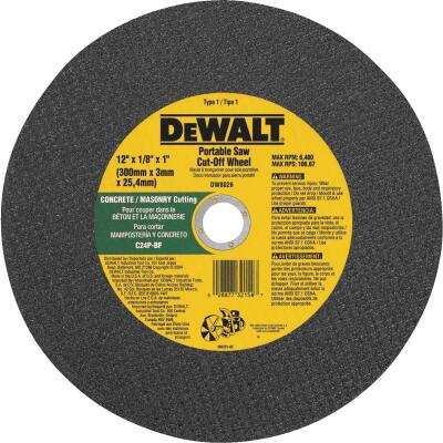DeWalt HP Type 1 12 In. x 1/8 In. x 1 In. Masonry Cut-Off Wheel