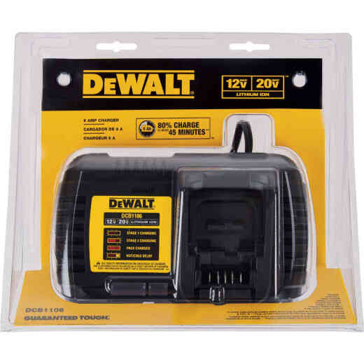 DeWalt 12 Volt MAX/20 Volt MAX and Flexvolt Lithium-Ion Battery Charger