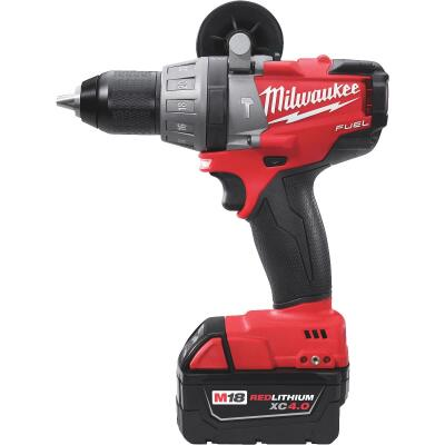 Milwaukee M18 FUEL 18-Volt XC Lithium-Ion Brushless 1/2 In. Cordless Hammer Drill Kit