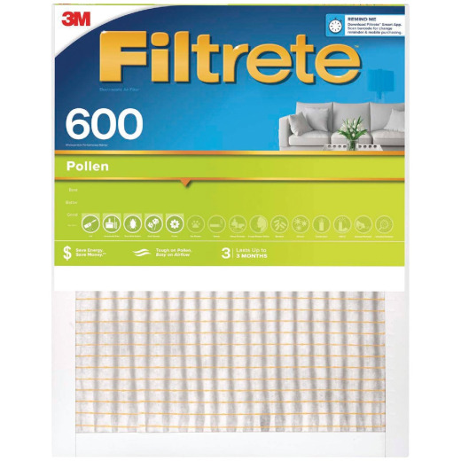 3M Filtrete 20 In. x 25 In. x 1 In. Clean Living 600 MPR Furnace Filter