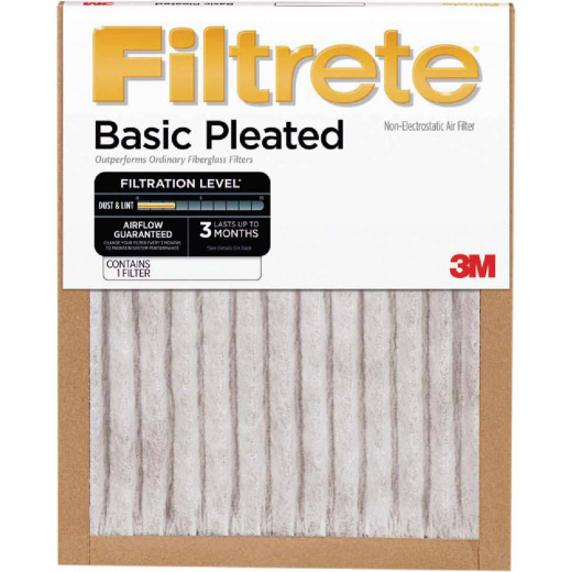 3M Filtrete 12 In. x 20 In. x 1 In. Basic Pleated 250 MPR Furnace Filter