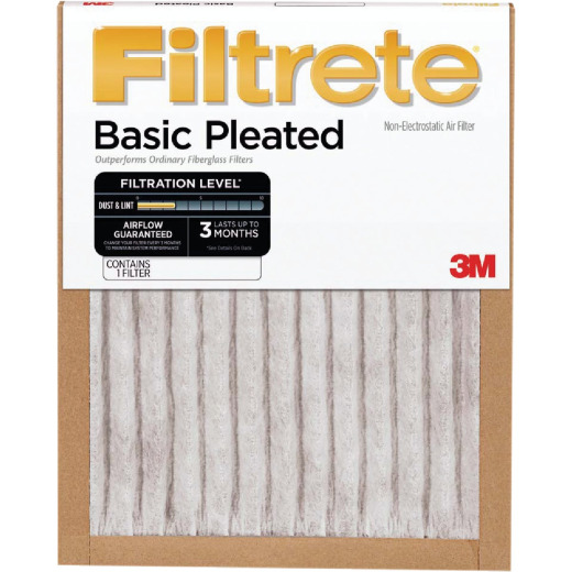 3M Filtrete 24 In. x 24 In. x 1 In. Basic Pleated 250 MPR Furnace Filter