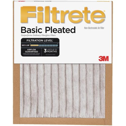 3M Filtrete 20 In. x 24 In. x 1 In. Basic Pleated 250 MPR Furnace Filter