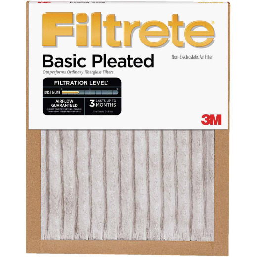 3M Filtrete 25 In. x 25 In. x 1 In. Basic Pleated 250 MPR Furnace Filter