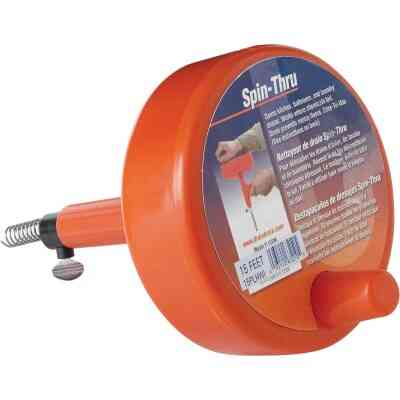 General Wire 1/4 In. x 15 Ft. Plastic Spin Through Drain Auger