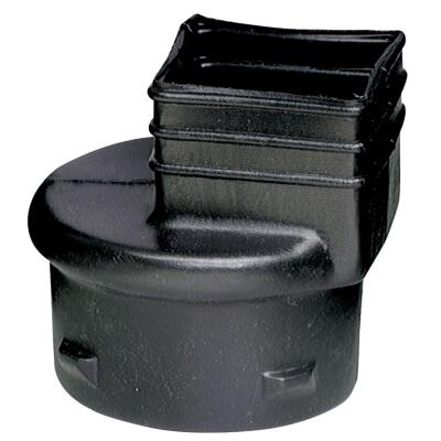 Advanced Basement 3 In. X 4 In. X 4 In. Polyethylene Corrugated to Downspout Barb X Female Adapter