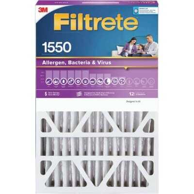 3M Filtrete 16 In. x 25 In. x 4 In. Allergen, Bacteria & Virus 1550 MPR Deep Pleat Furnace Filter