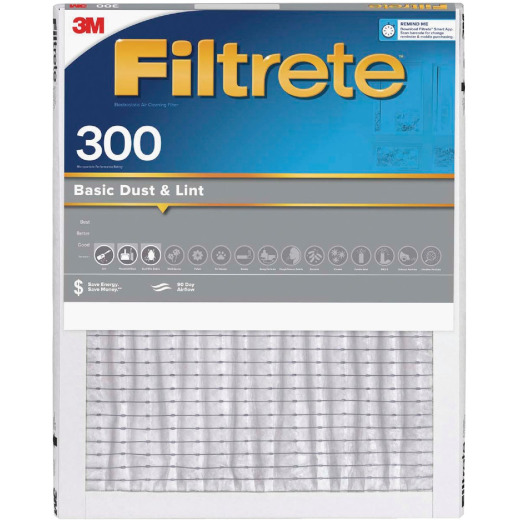 3M Filtrete 14 In. x 30 In. x 1 In. Dust Reduction 300 MPR Furnace Filter