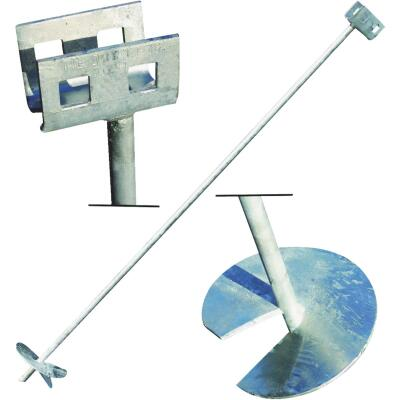 Tie Down 6 In. x 48 In. Galvanized Double Head Earth Anchor