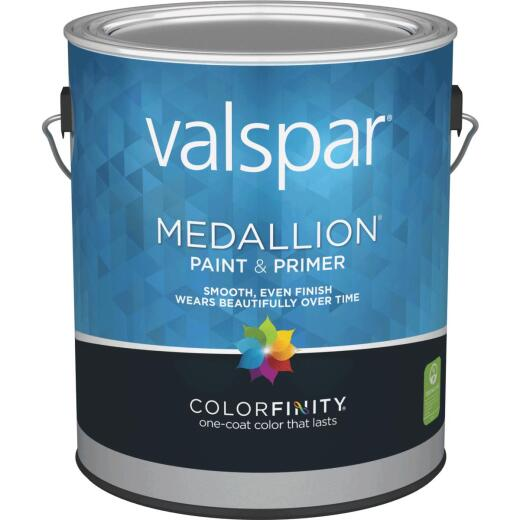 Valspar Medallion 100% Acrylic Paint & Primer Flat Interior Wall Paint, White, 1 Gal.