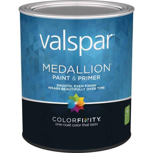 Valspar Medallion 100% Acrylic Paint & Primer Eggshell Interior Wall Paint, White, 1 Qt.