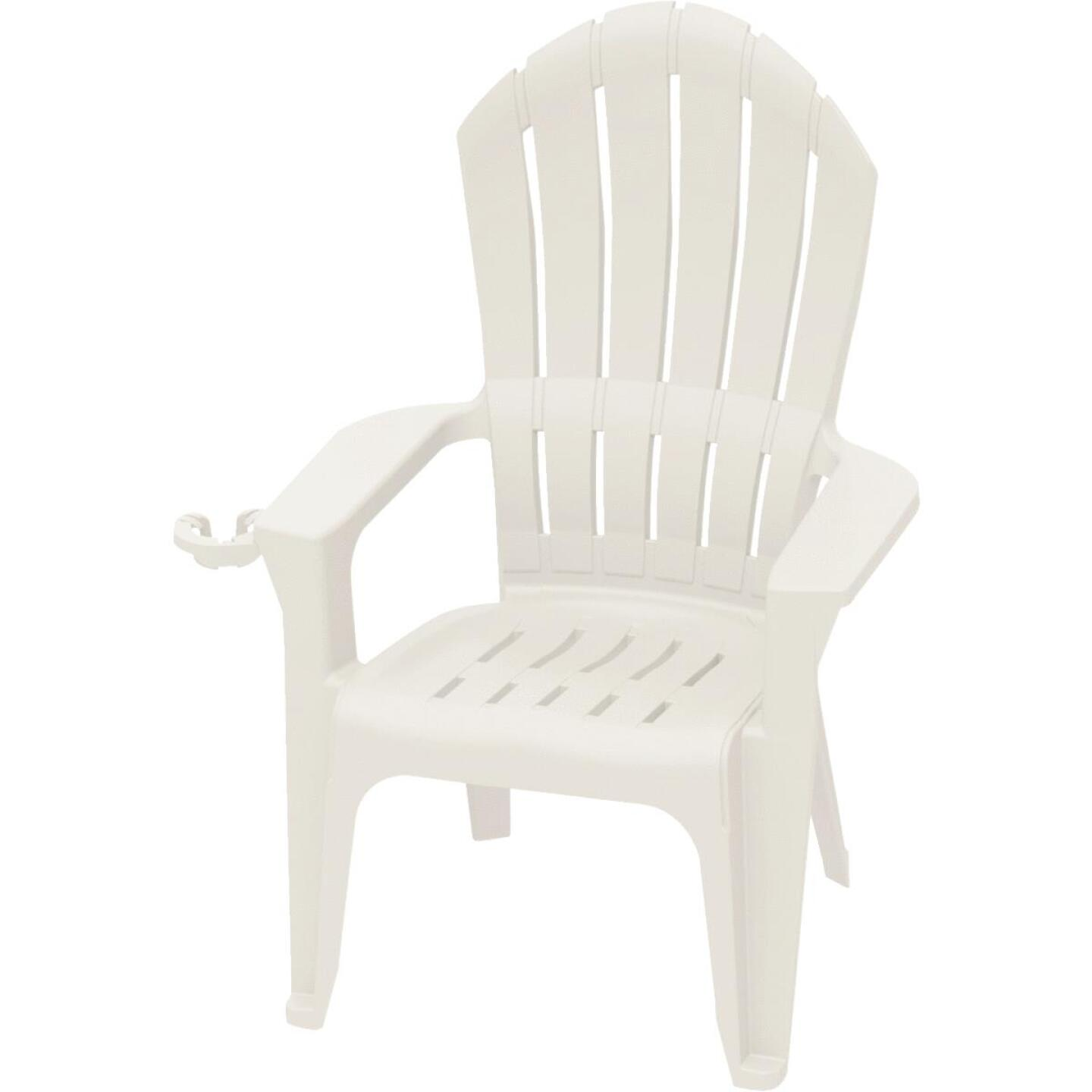 Adams Big Easy White Resin Adirondack Chair Image 1