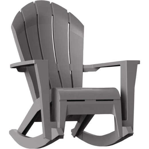 Adams Big Easy Westport Gray Resin Adirondack Rocking Chair